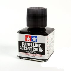 Смывка черная Tamiya Panel Line Accent color (BLACK), 87131, Tamiya, 40 мл