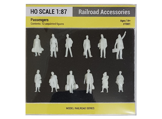 Фигурки пассажиров (Passengers), H0 SCALE 1:87, 7001, Railroad Accessories
